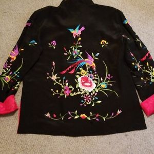 Tops - Custom Made Embroidered Reversible Asian Shirt